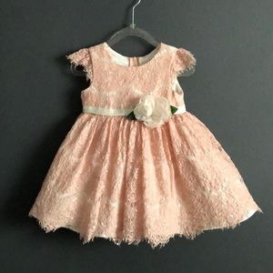 Girls Sequin Lace Fit & Flare Dress 12M